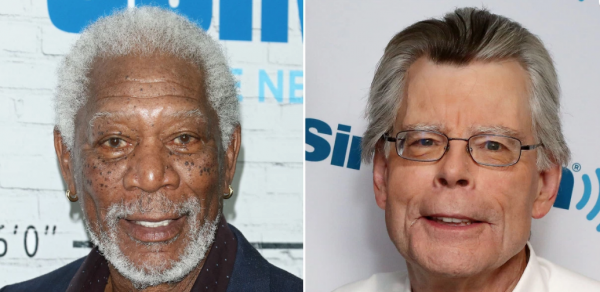 Morgan Freeman consegna un premio a Stephen King
