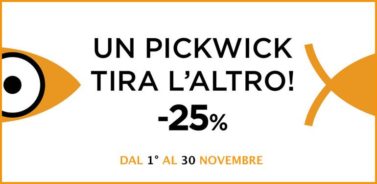Pickwick a -25% per tutto il mese di novembre