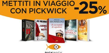 Mettiti in viaggio con Pickwick: -25% sui libri