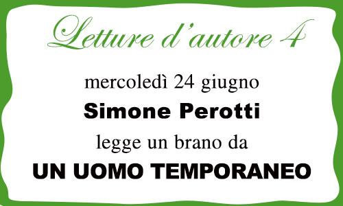 Letture d'autore 4: Simone Perotti legge un brano da UN UOMO TEMPORANEO