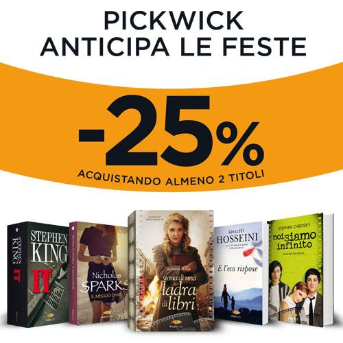 Pickwick anticipa le feste: -25% su due libri acquistati!