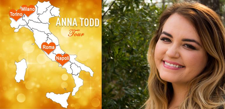 Anna Todd - tour in Italia
