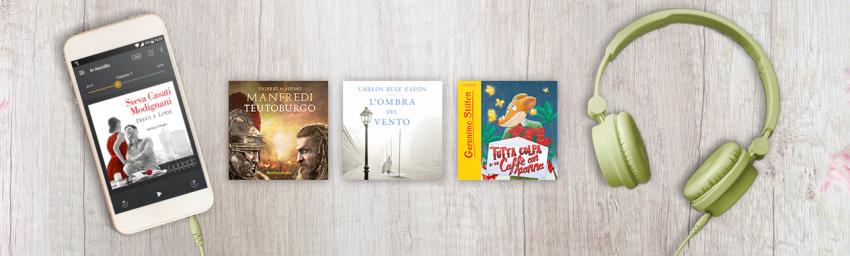 I grandi autori Mondadori arrivano su AUDIBLE